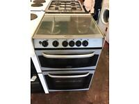 55cm black and silver cannon stratford gas cooker