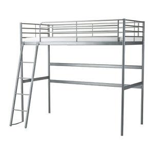 Metal loft bed frame IKEA: SVÄRTA