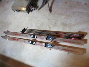 Head Skis, Tyrolla Bindings, Head Poles, Raichle Boots, Bag