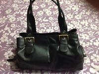 Gigi Black Leather Handbag- in good clean condition