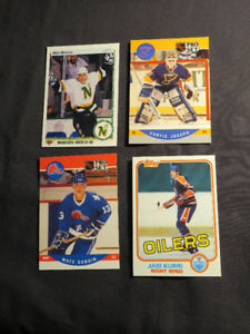 20 old hockey Card Collectibles ALL ROOKIE CARDS 1981 AND upward