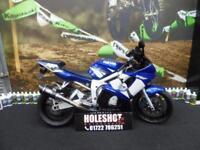 Yamaha R6 sports bike Yoshimura exhaust pipe