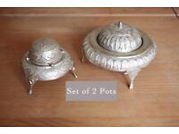 Set of 2 antique pots