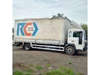 Left hand drive Volvo FL6.12 180 12 Ton curtainsider with tail lift. MOT till 2018.