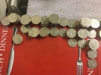 selection of rare 50 p and 2 pound coins