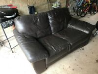 Two seater sofa ( leather)