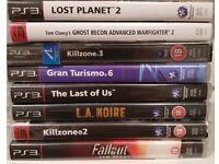 8 Playstation 3 / PS3 Games