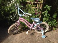 Childs bike girls with stabilisers
