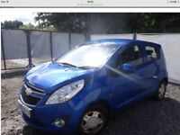 2010 CHEVROLET SPARK LS ( DAMAGED )