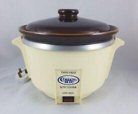 Vintage Cordon Bleu Twin Heat Slow Cooker