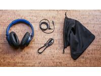 Sony MDR-ZX770BN Wireless and Noise Cancelling Headphones - Black and Blue - Like New