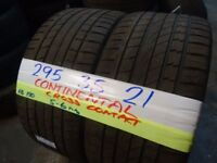 MATCHING PAIR 295 35 21 CONTINENTAL CROSS CONTACTS 5-6mm TREAD £110 PAIR SUP & fitd 7dys (punct £8)