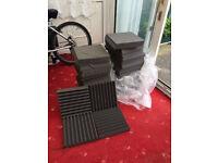 Acoustic foam wedge tiles