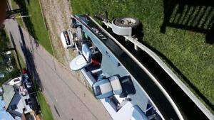 16' LUND REBEL TILLER COMPLETE FISHING RIG!