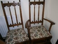 Ercol Dining table + 6 chairs +2 carvers