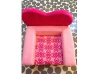Build a bear heart chair bed - £10