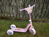 Girls 3-wheel scooter (Disney Princess Themed - Pink)
