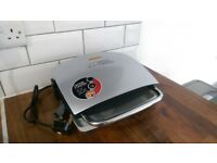 George Foreman family 4 portion silver grill & melt