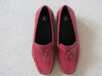 Ladies Red Slip-on Shoes (Brand New)