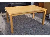 Solid Beech Table and 4 solid Beech Chairs, LOCAL DELIVERY POSSIBLE.