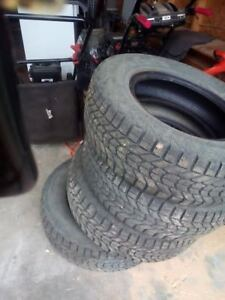 4 winter tires ,215/70/15 with 80 percent tread