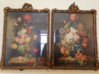Antique/Vintage Wood Gesso Frames/Pictures/Art/Print, Shabby, Distressed