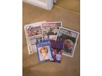Princess Diana Collection: Newspapers, Sticker Album and Photo Magazine