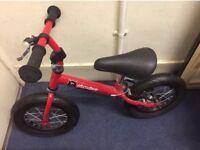 Brand new stompee balance bike with rear brake