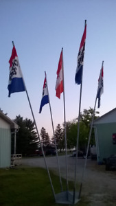 flag pole for sale with 5 poles