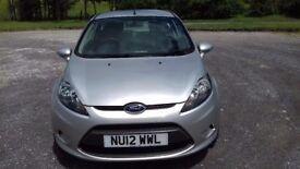 2012 Ford Fiesta Studio 1.4 TDCI, 3 Door Hatchback in Moondust Silver, Only £20 a Year Road Tax,