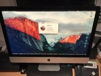 iMac 27 inch Mid 2014. 1TB HD, 8 GB RAM, with wireless keyboard and mouse