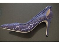 Miss KG - Blue 'Sayde' high heel court shoes