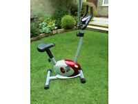 OneBody Excercise Bike electronic counters,calories,distance,speed etc very good condition.