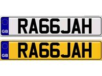 RAJAH RAJA a private number plate for sale