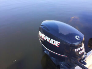 2012 Evinrude 50HP outboard motor  with control box