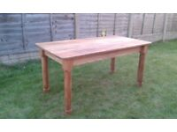 TABLE - DINING - SOLID PINE - 5ft - HANDMADE