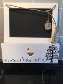 Key holder and chalk board