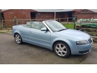 Lovely Blue Audi A4 cabriolet 2.5tdi 2004 with 109k **Full service history** tidy clean car!!!.