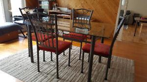 Glass dining room or patio set