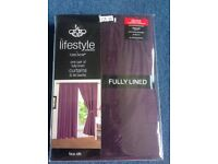 Aubergine colour new curtains