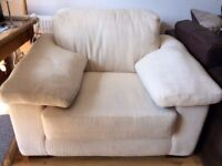 Large Cosy Cream Armchair - smoke, child and pet free home