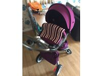 New Stokke xplory v4 in purple with xtras