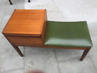 Retro Telephone Seat - Hall Table - Must be seen....