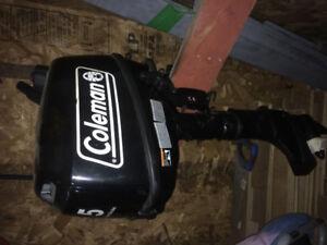 5 hp Coleman boat motor
