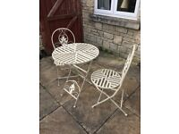 GARDEN BISTRO SET TABLE AND 2 CHAIRS