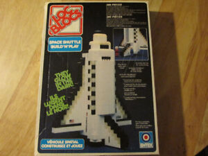 LOC BLOCS Lego NASA Space Shuttle Toy Building Block Set Vintage