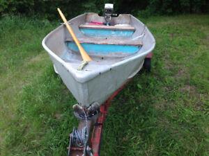 14 ft Peterborough Aluminum boat,motor and trailer