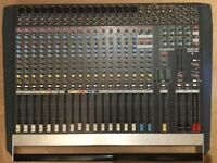 Allen & Heath PA 20-CP (2x500w) Mixer Amp, 1x 30 meter Stage Box and 2 Speakers