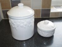 Two Marks & Spencer Ceramic Storage Containers