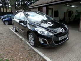 PEUGEOT 308 1.6 HDI SW SR 5d 92 BHP 2 OWNERS FROM NEW, £ (black) 2011